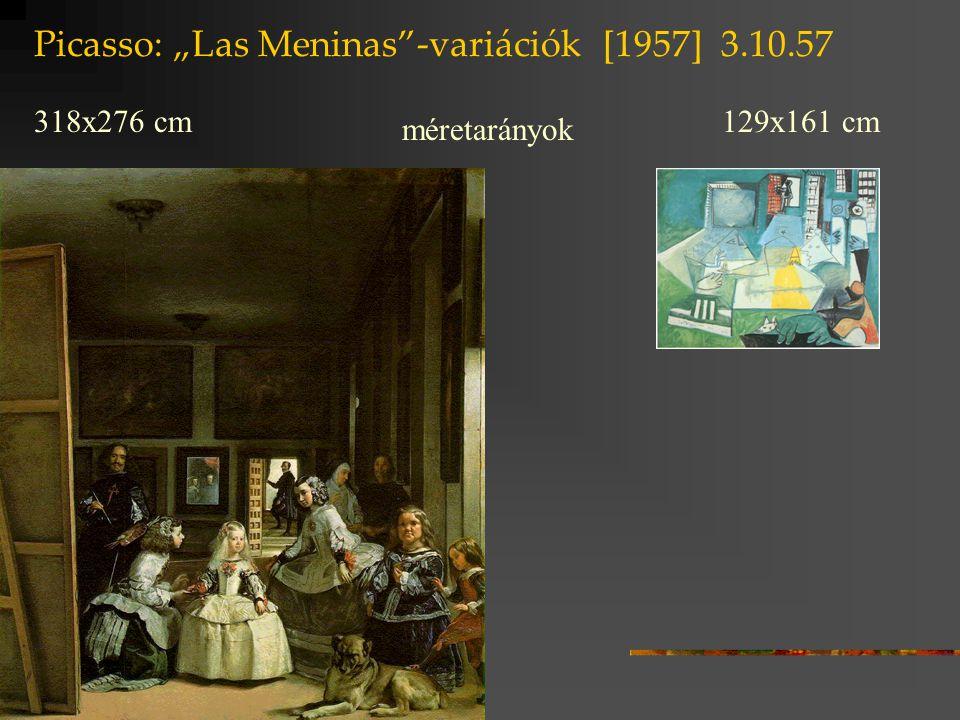 """Picasso: """"Las Meninas -variációk [1957] 3.10.57"""